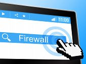 Online Firewall Shows World Wide Web And Defence