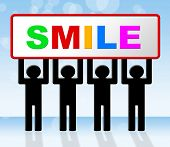 Smile Joy Represents Happiness Emotions And Happy