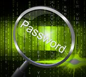 Password Magnifier Represents Sign In And Access