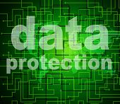 Data Protection Shows Knowledge Protected And Secured