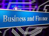 Finance Business Shows Figures Investment And Commerce