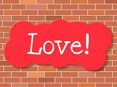 Sign Love Indicates Compassion Display And Loving