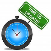 Time To Update Represents Improve Upgraded And Modernize