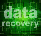 Data Recovery Represents Getting Back And Bytes