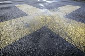Road Marking On An Airstrip Background