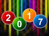 New Year Means Two Thosand Seventeen And Annual