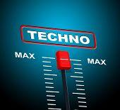 Techno Music Indicates Sound Track And Celebration
