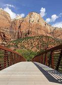 Footbridge Across Virgin River, Zion National Park
