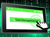 stock photo of byte  - Management Data Showing Managing Company And Directorate - JPG