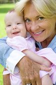 Grandmother And Grandchild Smiling