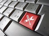 Computer Service Work Tool Key