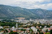 Mostar Bosnia Herzegovina In Tilt-shift