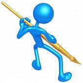Gold Paintbrush