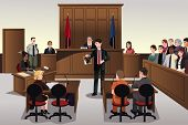 picture of crime scene  - A vector illustration of a court scene - JPG