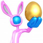 Easter Bunny With Gold Egg