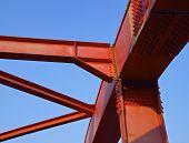 Steel construction of bridge