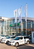 Samara, Russia - September 19, 2014: Official Dealer Skoda In Samara, Russia. Skoda Auto More Common