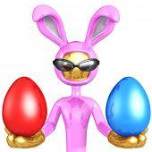 Red Or Blue Easter Egg