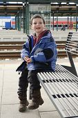 Child At Train Station