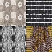 Snake Skin Texture Set. Seamless Pattern. Vector
