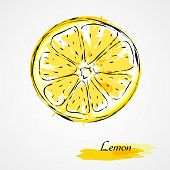 Lemon round slice