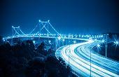 Beautiful Xiamen Haicang Bridge At Night