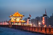 Xian Ancient Tower In Nightfall