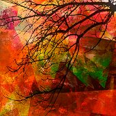 Colorful Fall Mixed Media