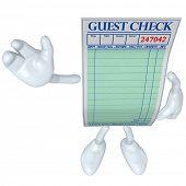 Restaurant Guest Check Waving