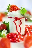 Fresh Strawberries With Healthy Yogurt