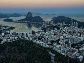 Botafogo bay at sunset
