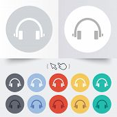 Headphones sign icon. Earphones button.