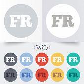 Постер, плакат: French language sign icon FR translation