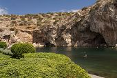 Vouliagmeni thermal radonic mineral lake near Athens