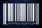 Product Bar Code With Limited Edition Message