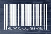 Product Bar Code With Exclusive Promotion
