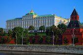 Moscow Kremlin Palace And Taynitskaya Tower