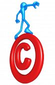 Balancing On Copyright Symbol
