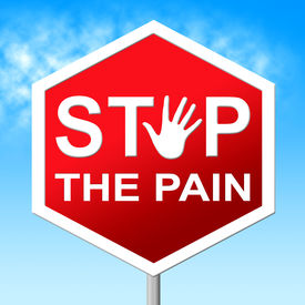 foto of heartbreaking  - Stop Pain Representing Warning Sign And Heartbreak - JPG