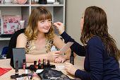 Makeup Artist Eye Tints Office Employee