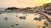 stock photo of piraeus  - Evening in Mikrolimano marina in Athens - JPG