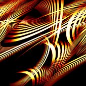 beautiful abstract composition of curved bands on a dark background