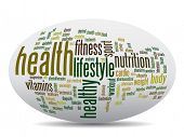 pic of oval  - Concept or conceptual abstract word cloud on white background as metaphor for health - JPG