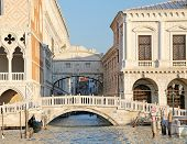 Famous Bridge Of Sighs In Venice In Italy And The Waterway