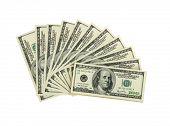 Dolar on a white background