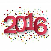 Happy 2016 new year Vector illustration for design