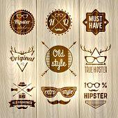 Hipster Labels Wooden