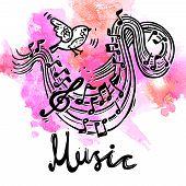 Music Sketch Background