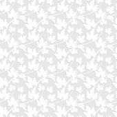 Vector  seamless pattern with leaves and vine