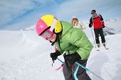 stock photo of family ski vacation  - 6 - JPG